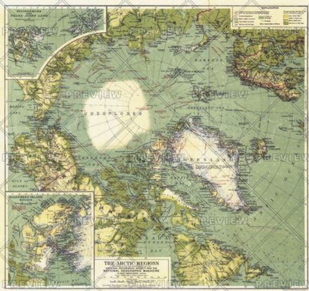 Arctic Regions - Published 1925 by National Geographic